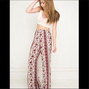 Brandy Melville Pants - Brandy Melville Floral Rose Pants